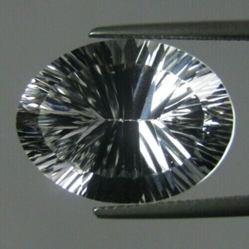 DIAMOND QUARTZ 11 x 9 MM OVAL CONCAVE CUT ALL NATURAL F-2972