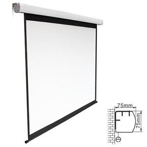 "Projector Screen Electric and Projector Ceiling Mount 100"" $139.99"