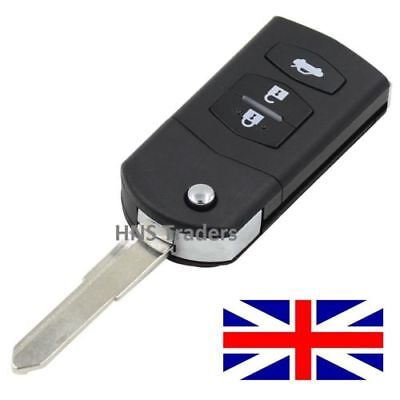 3 Button for MAZDA 2 3 5 6 RX8 MX5 FLIP REMOTE KEY FOB CASE WITH BLADE A71