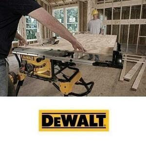 OB DEWALT 10 JOBSITE TABLE SAW DWE7491RS 247105161 WITH ROLLING STAND TABLE SAW OPEN BOX