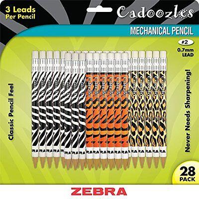 Zebra Pen Cadoozles Animal Print Mechanical Pencils - 2 Pencil Grade - 0.7 Mm