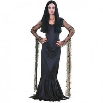 Rubies Morticia Addams Familie Damen Kleid Gotik Erwachsene Halloween Kostüm