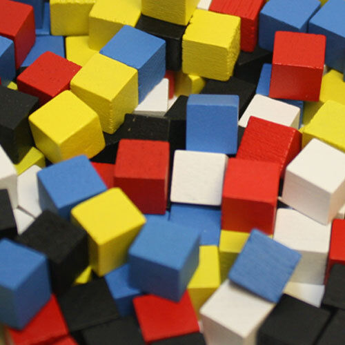 Board Game Cubes 8mm - SELECT COLOR - Wooden Tokens - Euro Meeple Pieces Wood