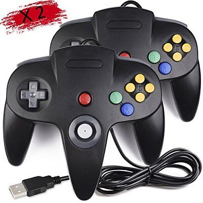 2 Pack Classic Nintendo 64 Controller N64 Wired USB PC Game Pads for sale  Shipping to India