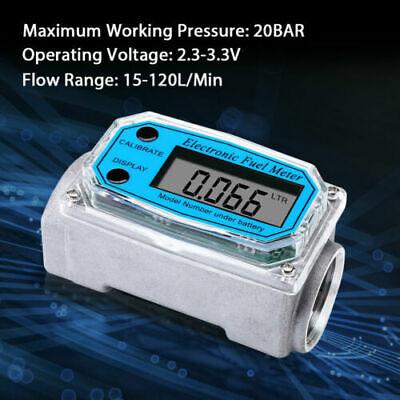 1 Inch Turbine Digital Diesel Water Fuel Flow Meter Oval Gear Flow Gauge