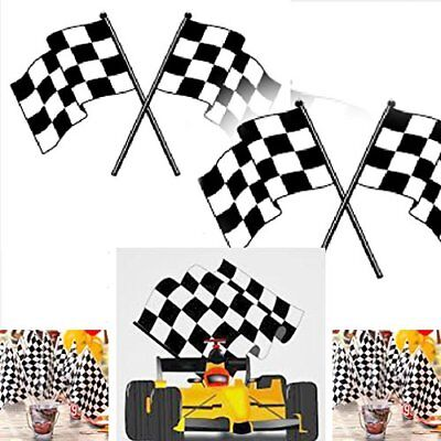 Plastic Checkered Mini Racing Flags Nascar Birthday Party Favor Decorations  - Plastic Checkered Flags