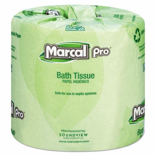 Marcal Standard 2-Ply Toilet Paper Rolls, 240 Sheets/Roll, 48 Rolls (MRC3001)