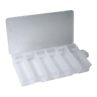 6 Compartment Clear Plastic Storage Tray Box Parts Organizer 8 14 X 4 14