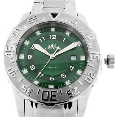 Used, ADEE KAYE MEN'S 21J MIYOTA AUTOMATIC STAINLESS STEEL WATCH NEW GREEN AK6269-M for sale  Shipping to South Africa