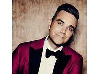 Robbie Williams unreserved floor seating.