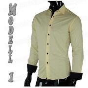 Herren Hemd Gelb