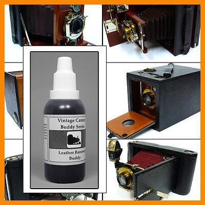 Vintage Camera Buddy leatherette renovating fluid 35 ml for Kodak Ensign Graflex