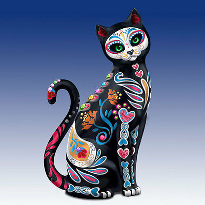 Purr-Fectly Sweet Sugar Skull Cat Figurine by Blake Jensen NEW - Sugar Skull Cat