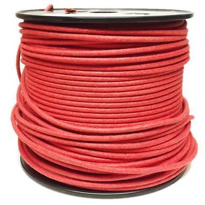 1M Algodón Trenzado Eléctrico Del Automóvil Cable 18 Calibre Rojo