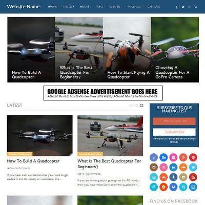 Drones Store - Established Online Business Website For Sale Mobile Friendly