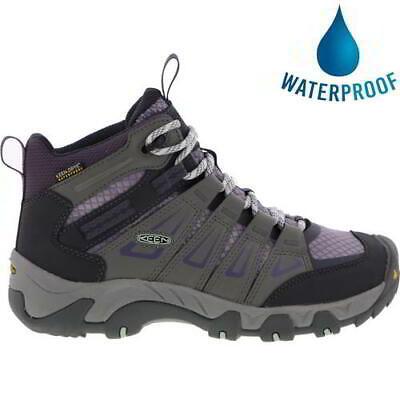 Keen Oakridge Mid WP Womens Ladies Grey Waterproof Walking Hiking Boots Size 5-8