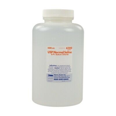 0.9 Sodium Chloride Irrigation Saline 500 Ml Bottle Nurse Assist