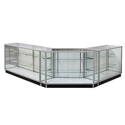 Gcxcombo2 Extra Vision Showcase Combo Unit Checkout Counter Glass Display Case