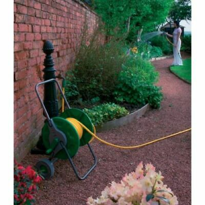 Kingfisher Portable Garden Hose Pipe Trolley Cart Reel Rust Proof Best