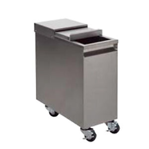 "ICE  BIN MOBILE  STAINLESS STEEL  11-1/4""W x 24""D x 28.5""H"