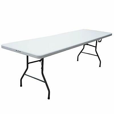 8 Foot Plastic White Folding Card Table Legs Outdoor Fold Up Banquet Tables