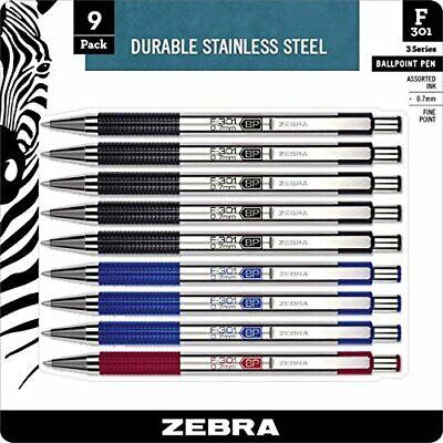 Zebra Pen Bca F-301 Stainless Steel Ballpoint Pens 11169