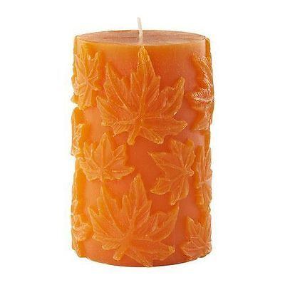 IKEA HALVLEK Candle Orange Autumn Leaf Leaves Thanksgiving Fall Harvest