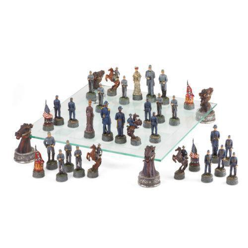 Civil War Chess Set Ebay
