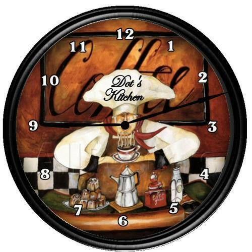 Fat Chef Clock Ebay