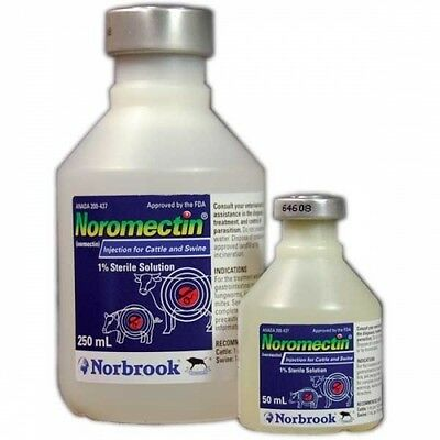 Noromectin (Ivermectin) 1% Injectable Dewormer for Cattle ...
