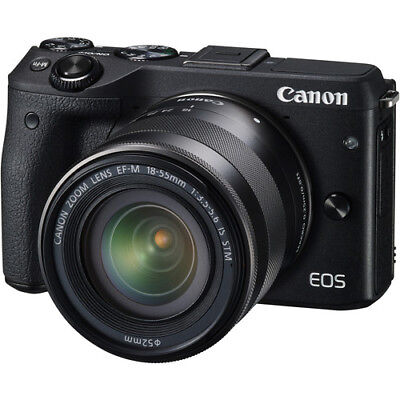 Canon EOS M3 Mirrorless Digital Camera - Black with 18-55mm Lens