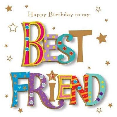 Happy Birthday To My Best Friend Greeting Card By Talking Pictures (Birthday Greetings To My Best Friend)