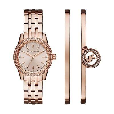 Michael Kors Women's MK3744 Rose Gold Round Face Ritz Watch