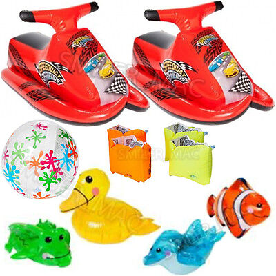 Chad Valley Inflatable Jet Ski Arm Bands Beach Ball Swimming Water Float Toy Set
