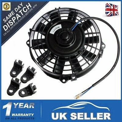 7'' Universal Car 12V 80W Radiator / Intercooler Electric Cooling Fan Push Pull