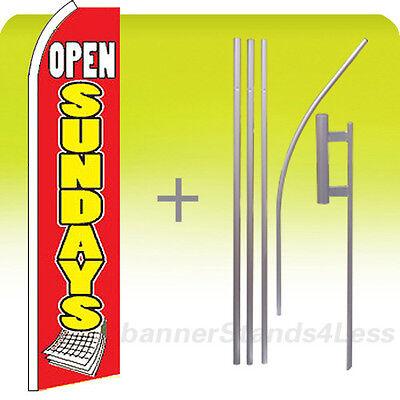 Swooper Feather 15 Banner Flagpole Kit-open Sundays