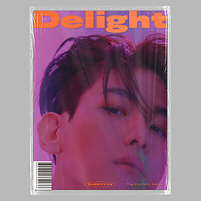 BAEKHYUN DELIGHT 2nd Mini Album CINNAMON CD+Photo Book+3 Card+FoldPoster+Sticker