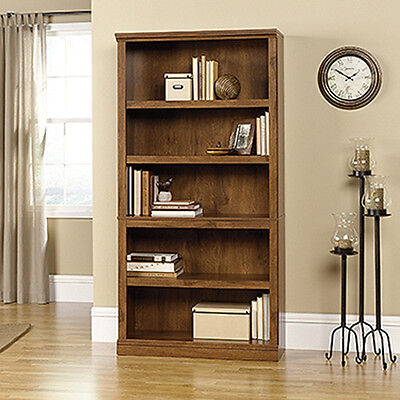 مكتبة كتب جديد 5-Shelf Bookcase – Oiled Oak – Sauder Select Collection (410367)
