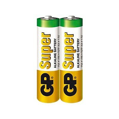 gp super alkaline double aa batteries pack of 2 1 5v 15a 15au gp15a gp15a lr6 ebay. Black Bedroom Furniture Sets. Home Design Ideas