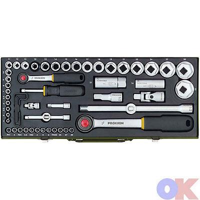 """Proxxon Steckschlüsselsatz 1/4"""" + 1/2"""" 56-tlg. 23040 Knarrenkasten NEU / OVP"""