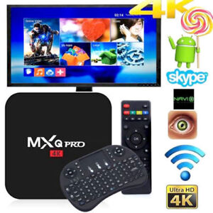 MXQ PRO 4K - Android TV Box + Air Mouse Keyboard – BRAND NEW