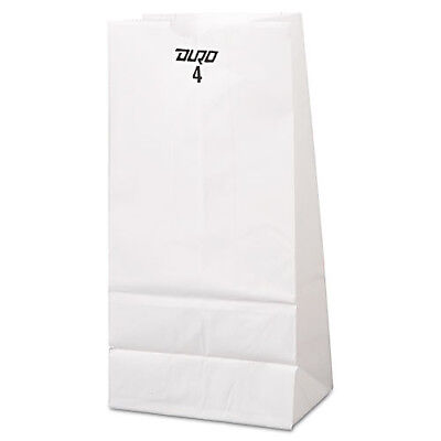 1500 Duro Kraft White Paper Bags #4 LB Donut Food Lunch Grocery Case Commercial