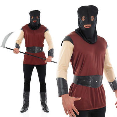 Mens Male Executioner Halloween Costume Medieval Adult Fancy Dress Costume M](Male Medieval Costumes)