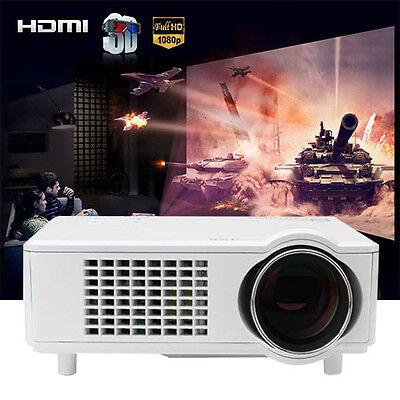 4000 Lumen HD1280×8001080P LED 3D AV HDMI TV Short Throw Home Theater Projector