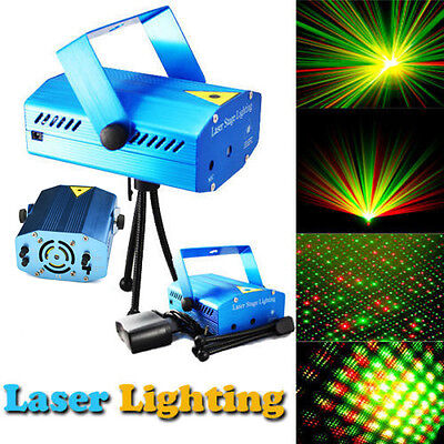 R&G Super Mini Projector DJ Disco LED Stage Light Party Laser Lighting Show Plug