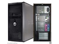 Dell Core 2 Duo 2.00GHz Tower PC Computer - 4GB RAM - 160GB HD Wi-Fi inin