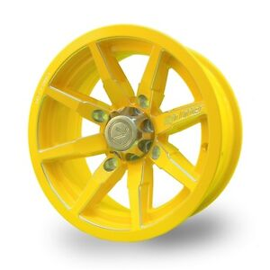 No Limit 14x8 4/137 Octane Tracer Wheel in Yellow ATV TIRE RACK