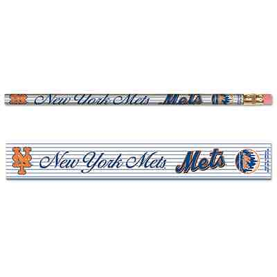 New York Mets Pencil - NEW YORK METS TEAM LOGO 6-PACK PENCILS BRAND NEW FREE SHIPPING WINCRAFT