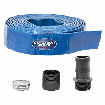 Superior Pump 99621 Lay-flat Discharge Hose Kit 1-12-inch By 25-foot 4-piece