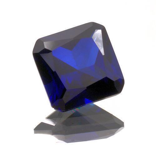10mm Octagon/Princess Lab Created Blue Sapphire